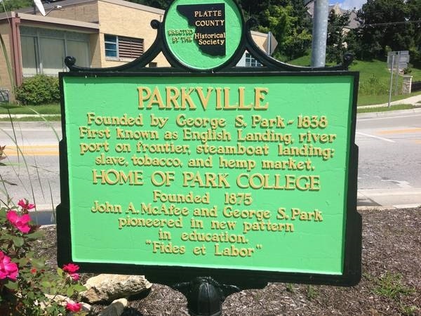 City of Parkville established in 1838.