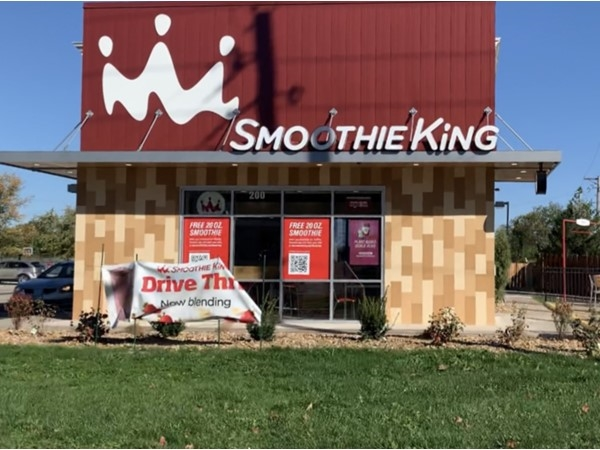 Tried Smoothie King, a newly opened business in Blue Springs. Was very tasty