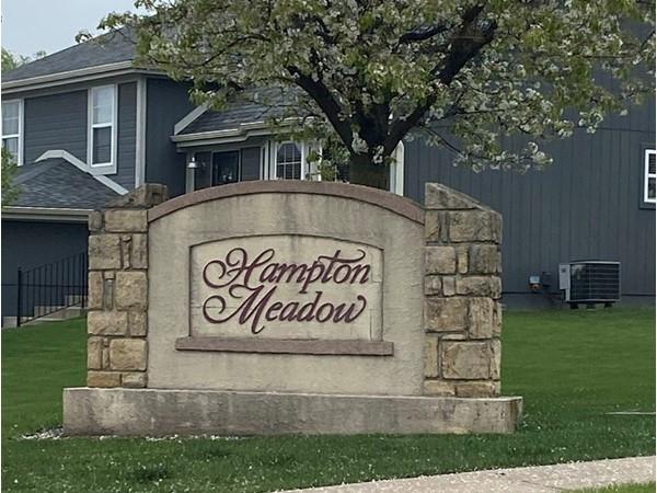Hampton Meadow entrance during springtime