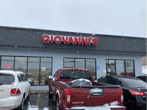 Never too cold and snowy for lasagna at Giovanni's