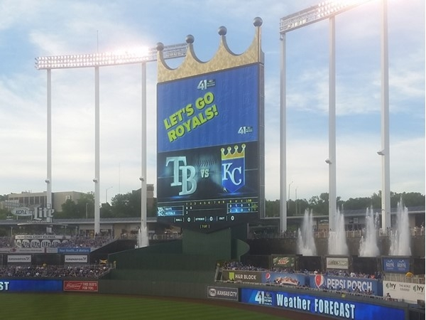 A beautiful night for a Kansas City Royals game