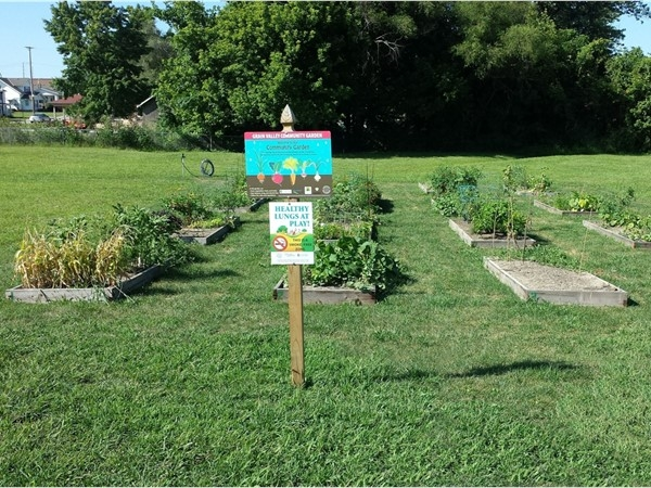 Community Garden at Main Street and Walnut Street, Grain Valley