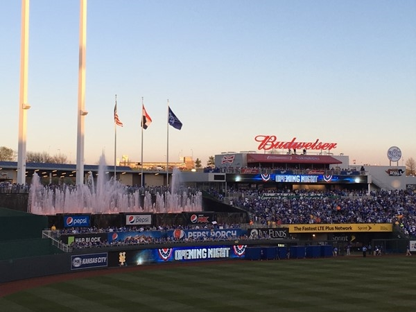 Opening night of the 2016 Royals season at Kauffman Stadium