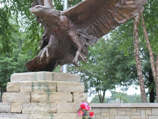 Clay County Veterans Memorial. The bronzed Eagle oversees this memorial