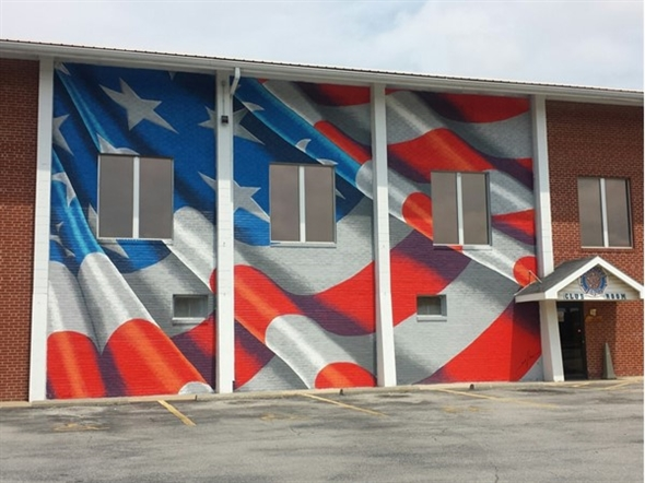 Beautiful mural painted by New York artist Scott LoBaido; American Legion Post #499