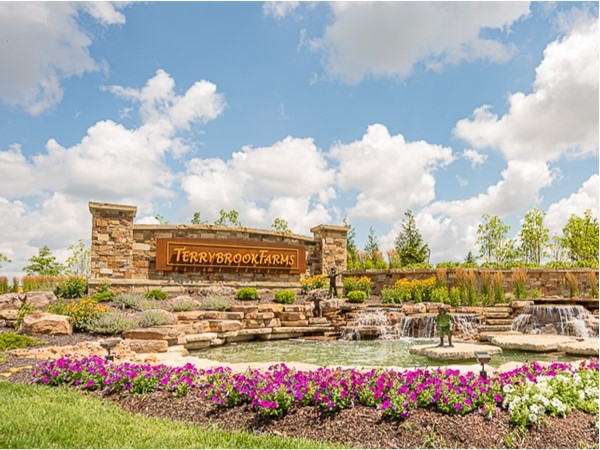 Main entrance to Terrybrook Farms in Overland Park