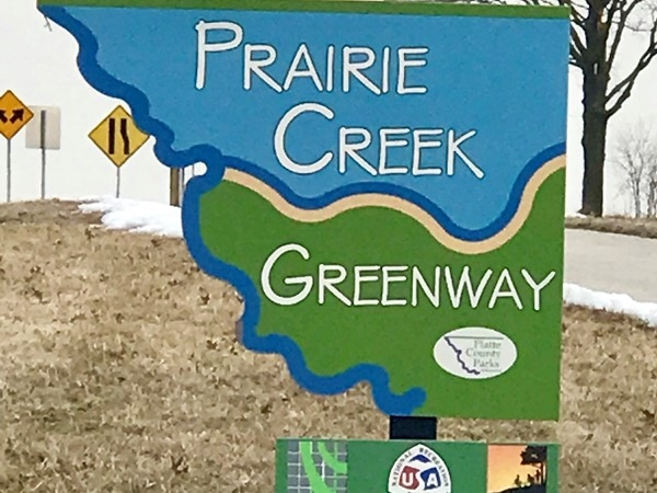 Seven mile Prairie Creek Greenway - trail and bike path in Platte City
