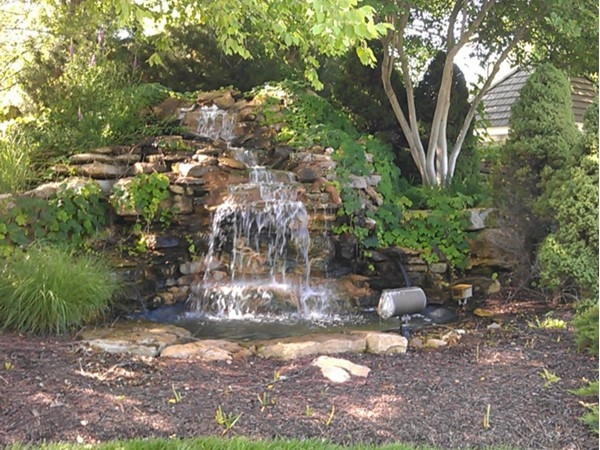 Residents of Nottingham St. Andrews enjoy this beautiful waterfall
