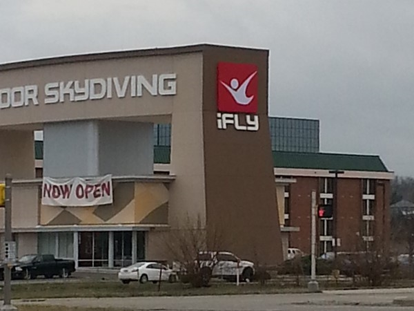 Flying in Overland Park!  iFLY Indoor Skydiving