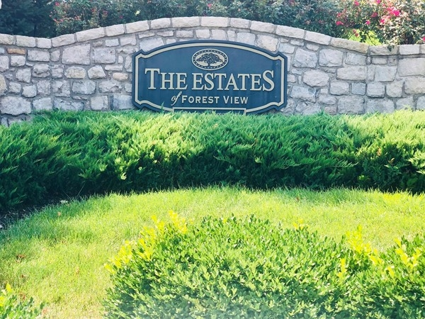The Estates of Forest View entrance