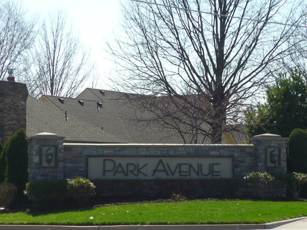 The sign at the entrance to Park Avenue