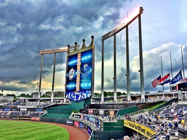 Kauffman Stadium is a beautiful place to watch major league baseball