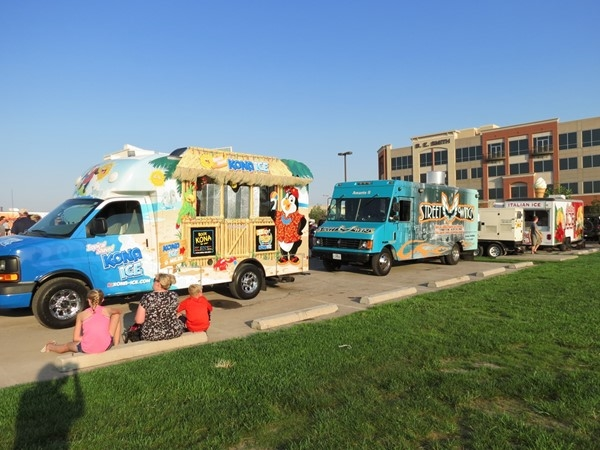 Friday Food Truck Frenzy at Lenexa City Center. Great food this year and even more trucks