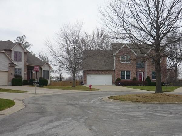 Northeast Waterfield Village Drive looking southeast