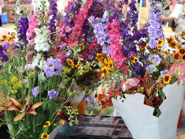 Be sure to pick up beautiful, fresh cut flowers when you visit the River Market in Kansas City