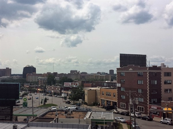 Rooftop view from Broadway Church at 39th Terrace and Broadway overlooking Westport