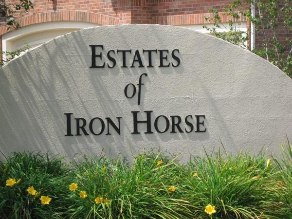 Estates of Iron Horse neighborhood entry monument