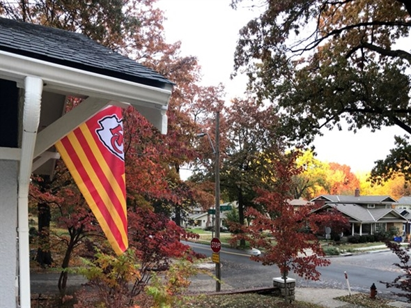 Fall 2018 Brookside bungalow and KC Chiefs love
