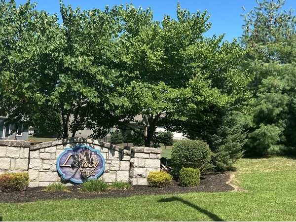 Entrance to Legacy Park subdivision in Liberty, Missouri