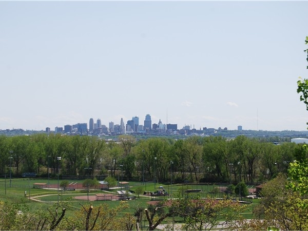 One of the best views in Briarcliff. Looking south at downtown Kansas City