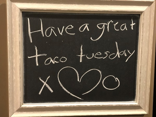 My kiddos favorite dinner on Tuesday