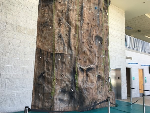 Climbing wall at the YMCA in North Kansas City