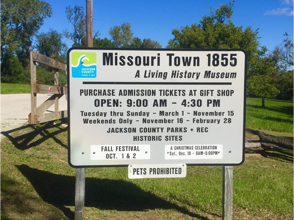 Missouri Town is a 30-acre outdoor history museum located in Fleming Park
