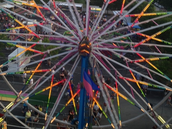 The Ferris wheel ride from Parkville Days in downtown Parkville,  August 2013.
