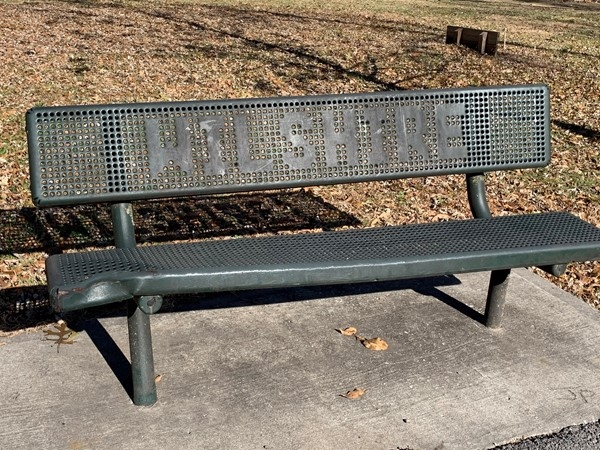 Sitting on a park bench in December