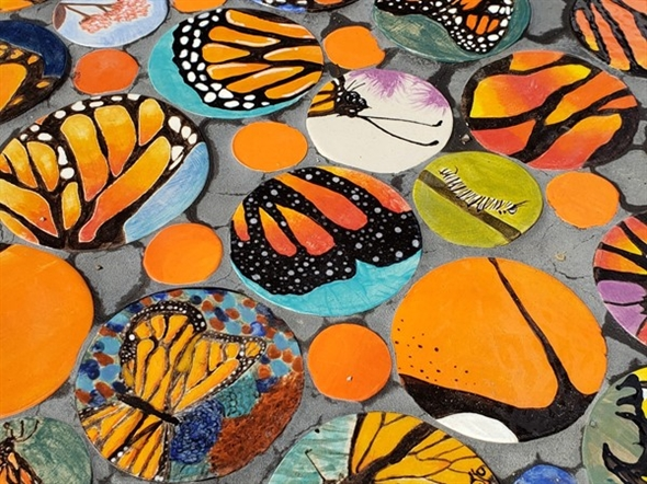One of the beautiful monarch butterfly exhibits. This one was created by Park Hill South HS student