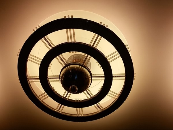 Beautifully restored art deco lighting at the Music Hall