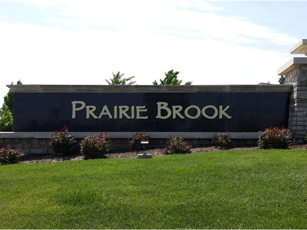 A distinctive entrance to a wonderful subdivision - Prairie Brook in Olathe