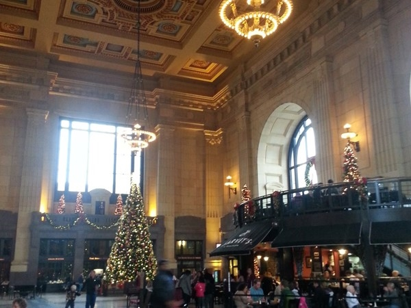 Beautiful Union Station at Christmas