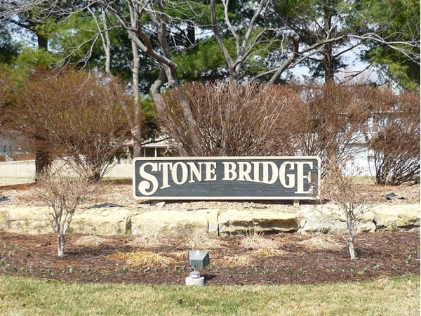 The sign at the entrance to Stonebridge
