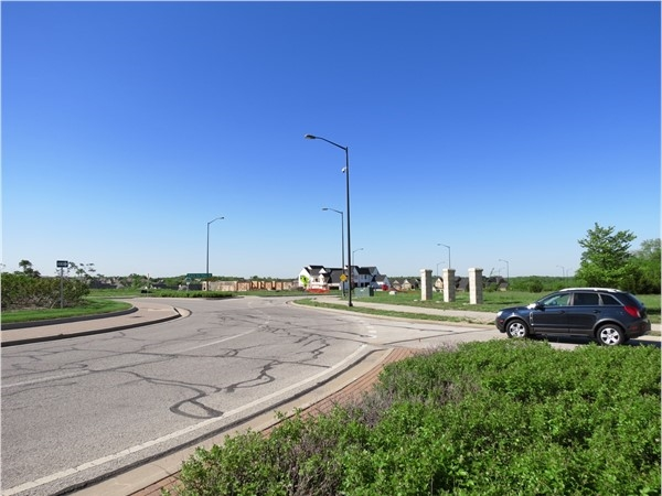Another view down Prairie Star Parkway, looking southwest - all the building activity