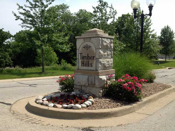 Timber Hills subdivision entrance.