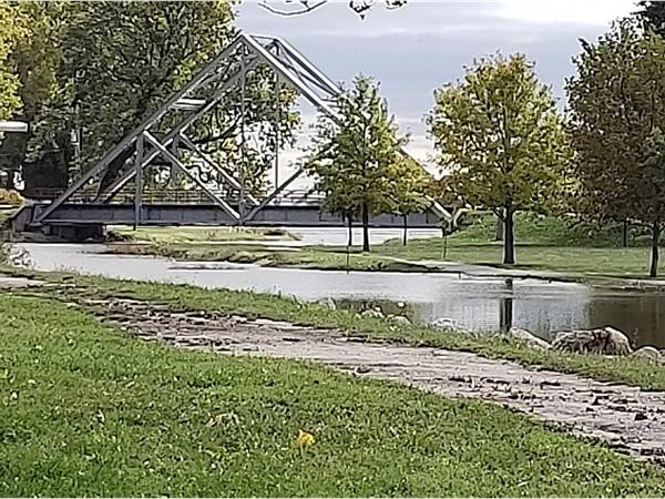 English Landing Park is closed as the Missouri River rises