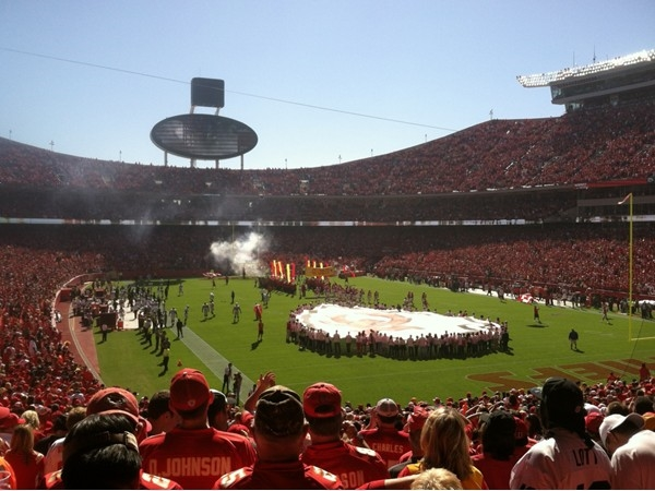 Pregame show at Arrowhead Stadium