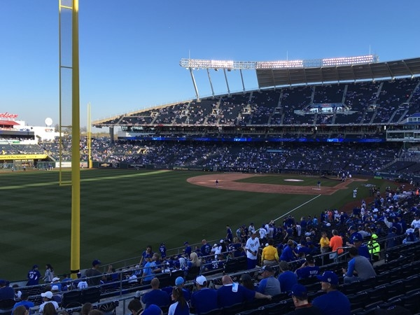 Almost game time with the Kansas City Royals