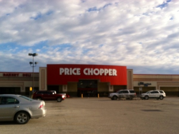 Louisburg Price Chopper with a beautiful morning sky