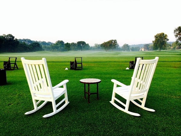 Mornings on the driving range at The National are hard to beat! Makes a golfer want to practice