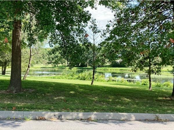 Huge pond as you enter River Bend Estates off 33 Hwy