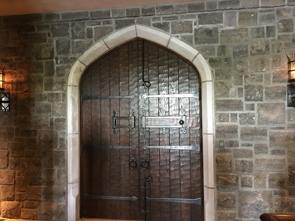 Beautiful door inside Castle at Weatherby Lake