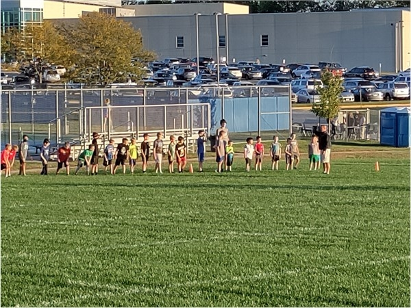 Elementary school cross country meet. These kiddos had a ball at Lee's Summit West High School