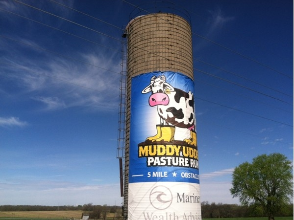 Just north of Louisburg in Wea, Kansas. Muddy Udder 5 Mile Obstacle Run