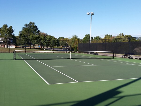 One of the tennis courts in the Lakewood Subdivision