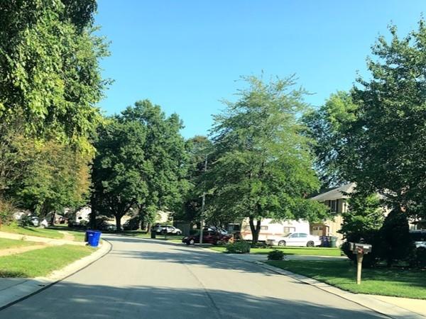 The well-maintained neighborhood of Sheridan Bridge