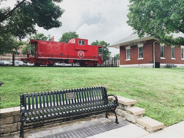 In Downtown Lee's Summit you can spot a beautiful red train, right by Lee's Summit Chamber