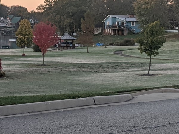 Early morning frost on a crisp fall morning
