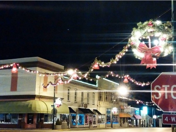 Christmas lights in downtown Odessa